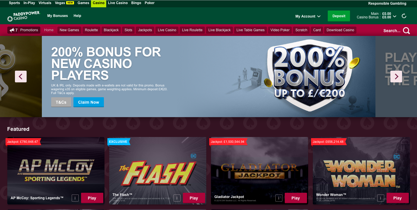 best pay pal casinos