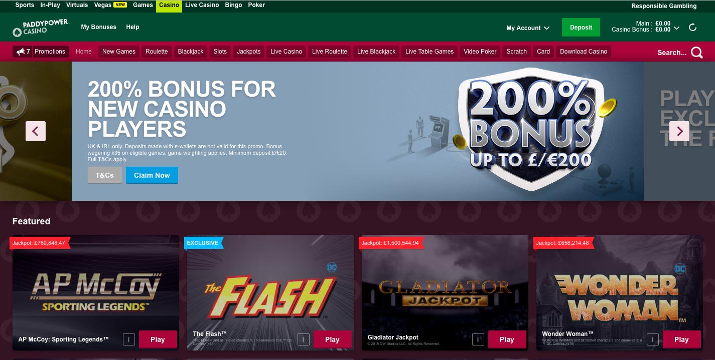 best pay pal casinos